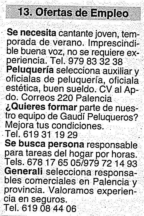 Ofertas de empleo del peri dico carri n 01 12 11 - Ofertas de empleo madrid ...